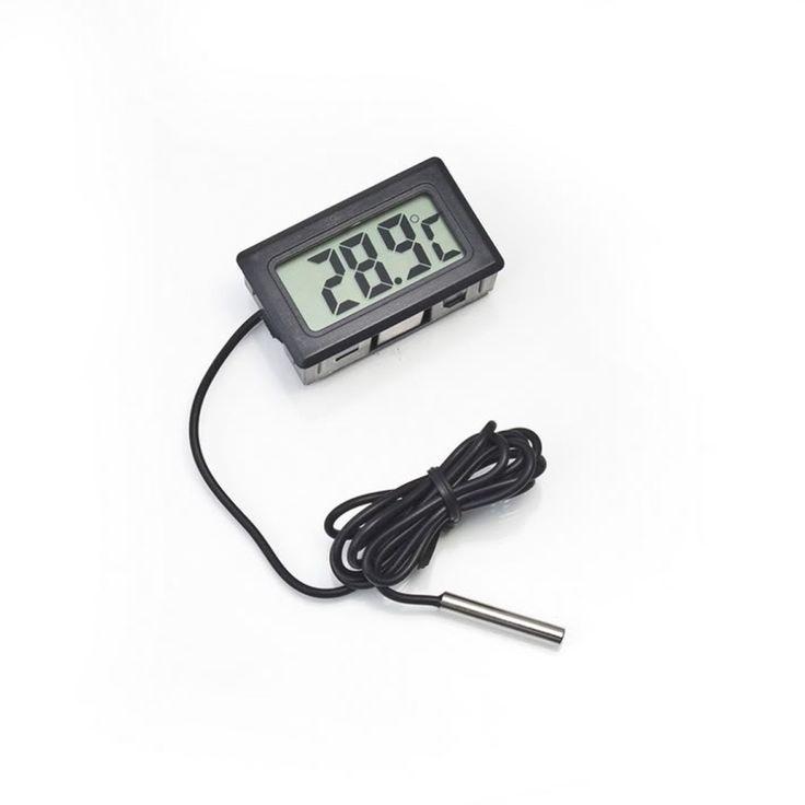 Купить товарЦифровой жк зонд холодильник морозильник термометр термографа для холодильник   50 ~ 110 град. в категории Термометрические приборына AliExpress.                                        Новый цифровой жк-термометр для аквариу