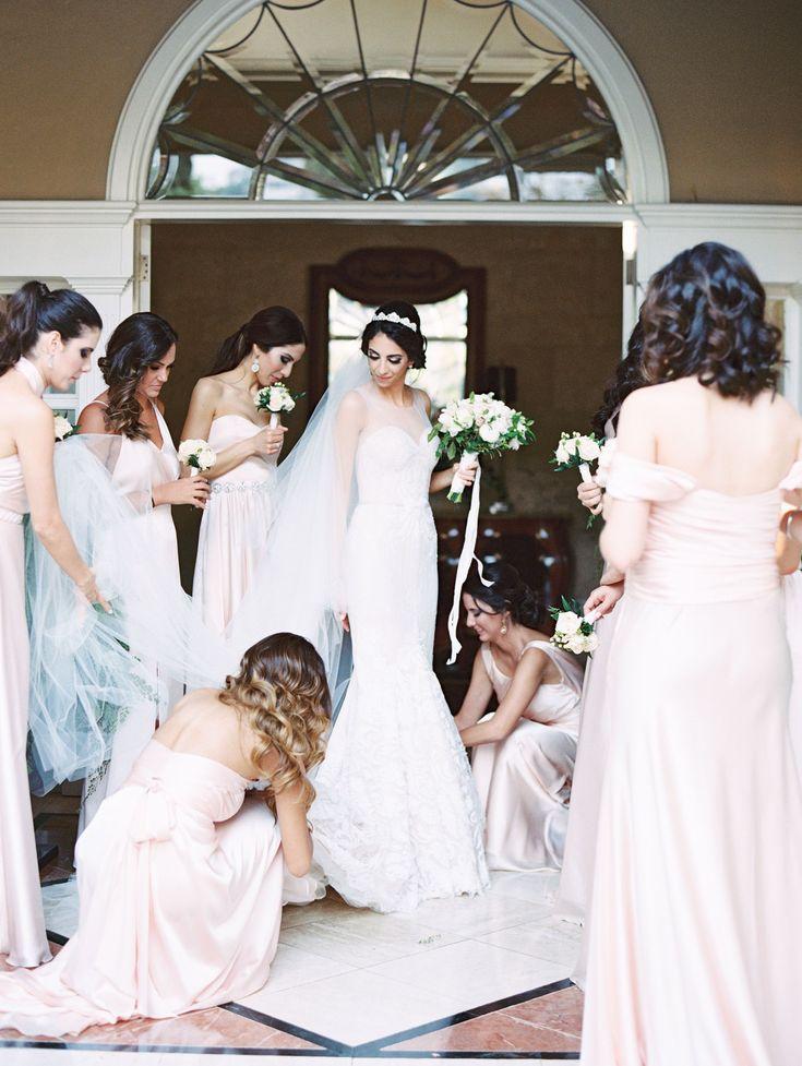 Pale+Pink+Bridesmaid+Dresses