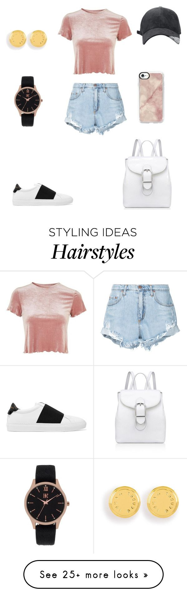"""""""Sans titre #1567"""" by wali-emna on Polyvore featuring Topshop, Nobody Denim, Givenchy, Anne Klein, Casetify, Henri Bendel and INC International Concepts"""