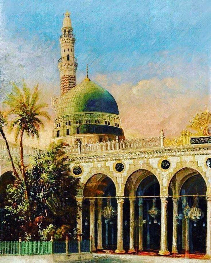 Masjid An Nabawi In Ottoman Era Medina Al Munawara 1800 S Osmanli Donemi Med Masjid An Nabawi In Ottoman Era Medina Al Munaw Medina Masjid Islamic Art