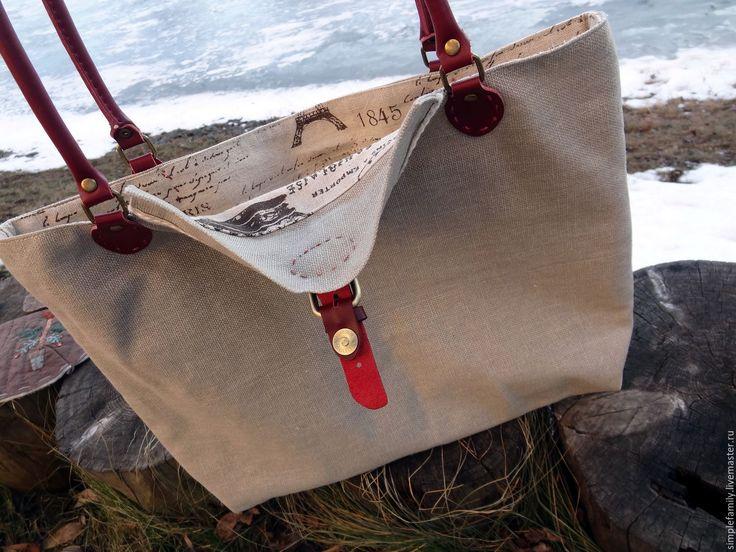 """Купить Текстильная сумка """"Парижская мода, журнал"""" - текстильная сумка, сумка из льна, стильная сумка"""