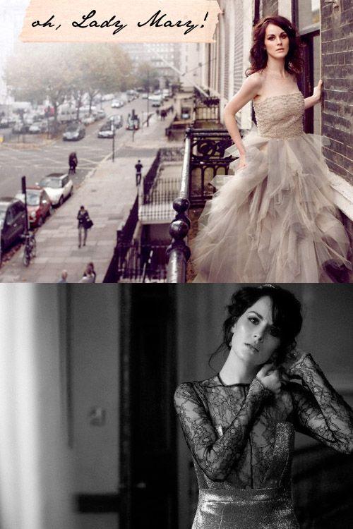 Michelle Dockery in Emma Watson's Oscar de la Renta harry potter premiere dress!