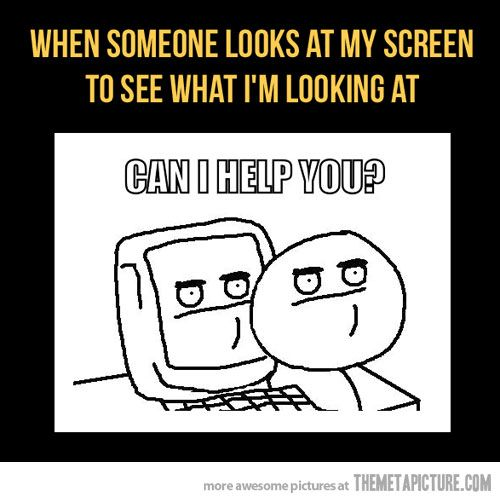 This is me on my phone on pintrest during lunch, and I'm looking at my otp then my friends look over my phone.