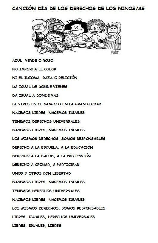 CANCIÓN LOS DERECHOS DE LOS NIÑOS Y NIÑAS