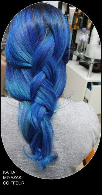 Katia Miyazaki Coiffeur - Salão de Beleza em Floripa: trança azul - cabelo azul - blue hair - cabelo fem...