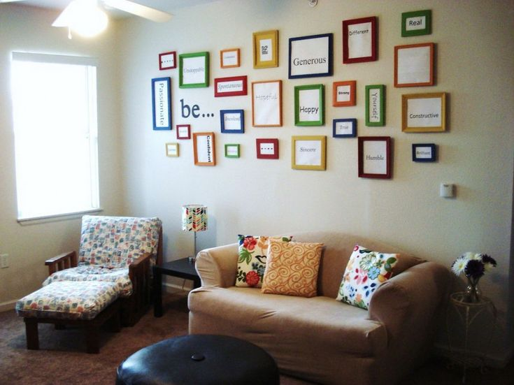 Marvelous Adding Wall Decor Ideas: The Way To Beautify Your Room : Colorful Frame Wall  Decor Ideas