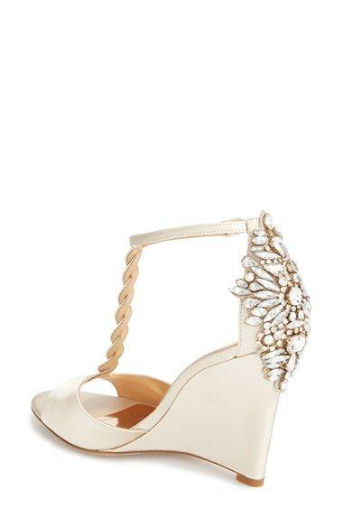 Womens Badgley Mischka Camryn Wedge Pump 4 Heel Wedding WedgesWedding PumpsBridal Shoes
