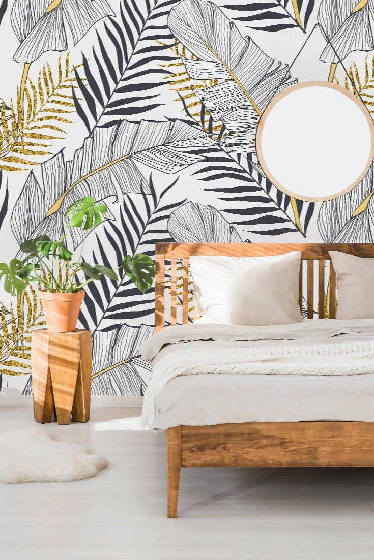 Keep Palm Carry On Home Decor Edition Cloakenhagen Wallpaper Living Room Mural Wallpaper Leaf Wallpaper