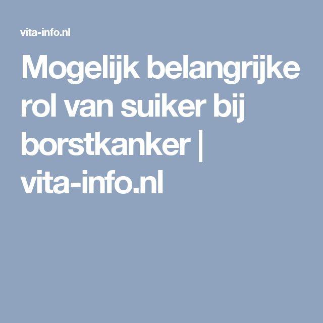 Mogelijk belangrijke rol van suiker bij borstkanker | vita-info.nl