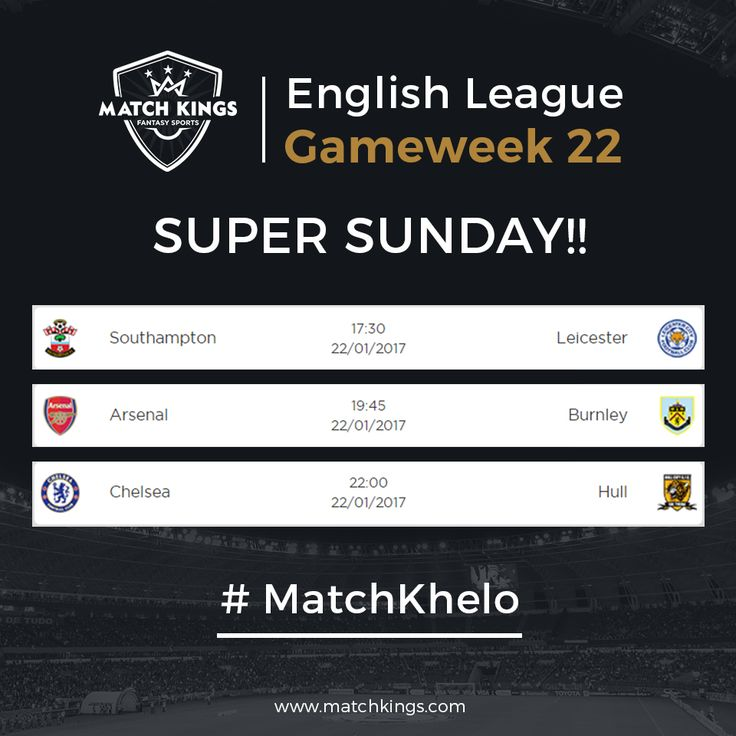 After an action packed Saturday, 3 more matches await you on Sunday! How's your www.matchkings.com team doing? #MatchKhelo #pl #fpl #fantasysoccer #soccer #fantasyfootball #football #fantasysports #sports #fplindia #fantasyfootballindia #sportsgames #gamers  #stats  #fantasy #MatchKings