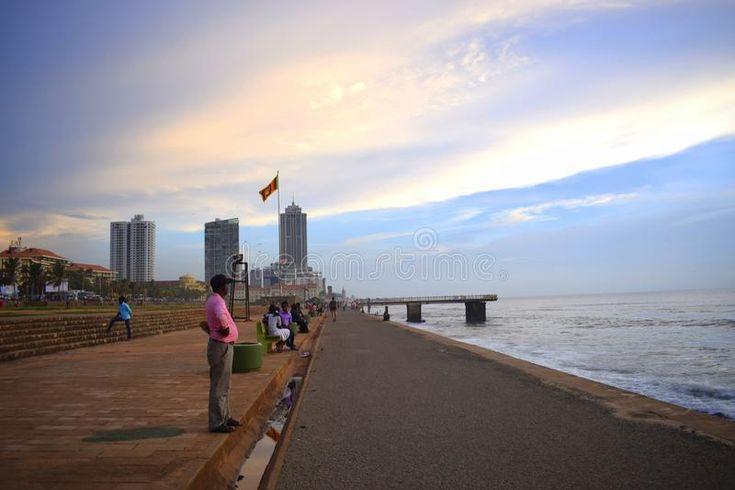 Beach Side Beside A Capital City Colombo Sri Lanka Galle Face Green Beach In Co Sponsored City Colombo Capital Beach Side Beach City Green Beach