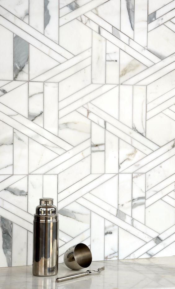 Royal Palace Altimetry Waterjet Mosaic Tile Handmade In