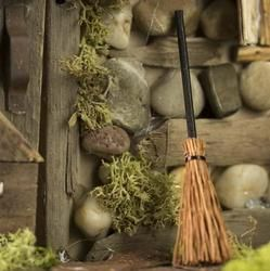 Miniature Broom - Fairy Garden Miniatures - Dollhouse Miniatures - Doll Making Supplies - Craft Supplies