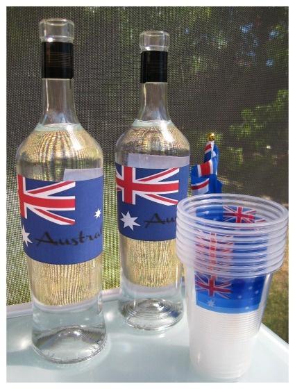 Australia Day Water Bottle Labels