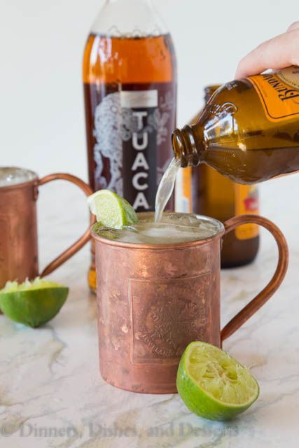 TUACA® Mule - A fun twist on the classic Moscow Mule! A citrusy vanilla liqueur adds tons of great flavor to a classic cocktail. #ad