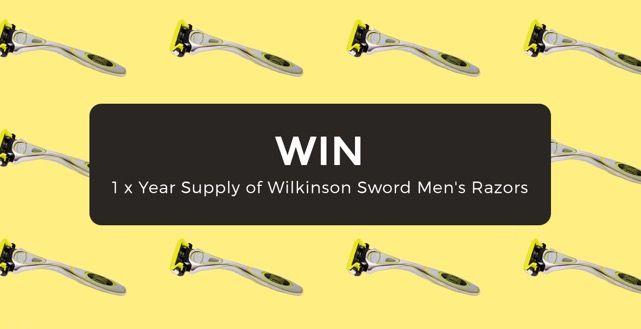 Win 1 x Year Supply of Wilkinson Sword Men's Razors