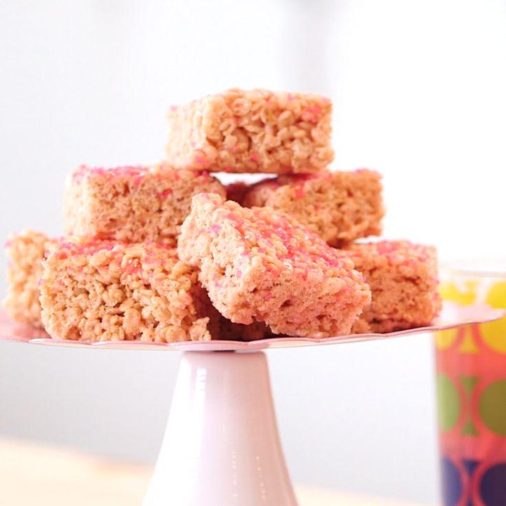 Pink Lemonade Crispy Cereal Treats