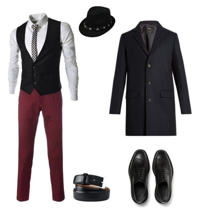 """""""Пижон"""" by repriza ❤ liked on Polyvore featuring Lands' End, A.P.C., Dolce&Gabbana, Burberry, men's fashion and menswear"""