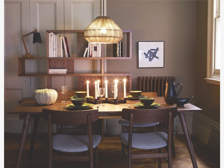 VINCE BROWNS Wood Walnut dining table - HabitatUK  The beautiful Vince walnut dining table is a statement design made from oiled, solid walnut.