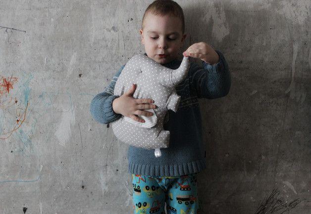 Stuffed Animals – Stuffed elephant pillow – a unique product by HandyHappy on DaWanda