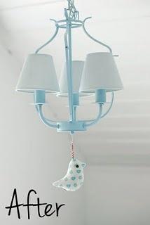 birdie light pull string: Crafts Ideas, Kids Room, Ikea Chandeliers, Daughters Room, Ikea Hacks, Ikea Hackers, Girls Nurseries, Hacks Ikea, Laundry Room