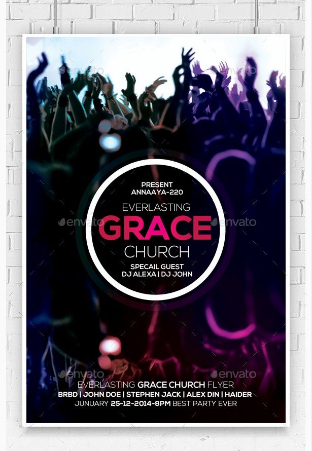 Everlasting Grace Church Flyer - Party Flyer Templates For Clubs Business & Marketing