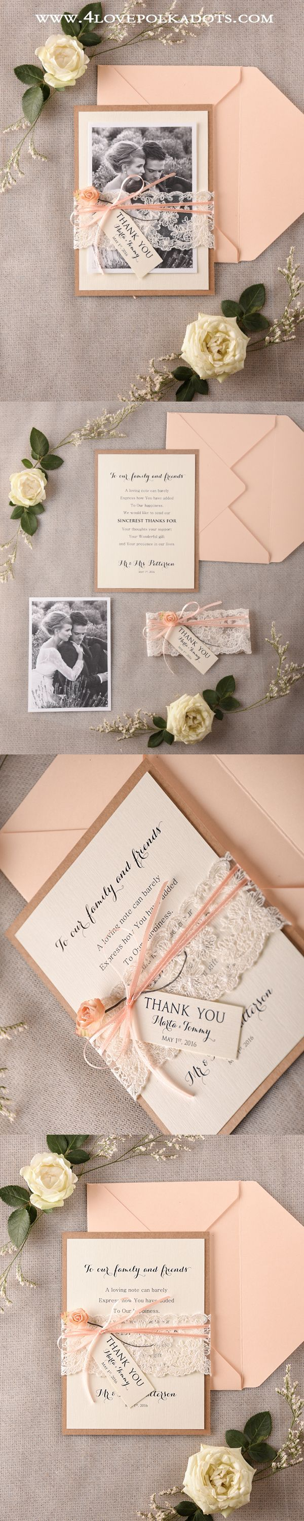 Say Thank You ! Peach Wedding Thank You Cards ! #weddingideas #weddings