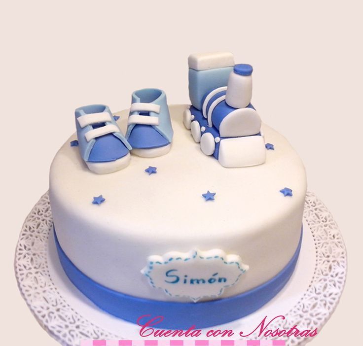 Torta Baby Shower niño Torta Tren Torta Baby Shower
