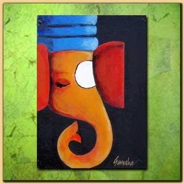 Painted Ganesha...