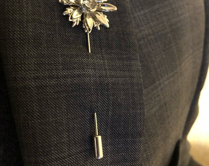 Gold Metal Rose Flower Lapel Pin by The Accessorized Man