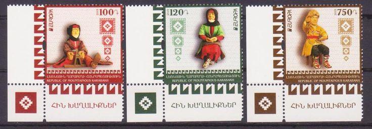 NEW NEWS EUROPA 2015 OLD TOYS NAGORNO KARABAKH ARMENIA SET OF 3 MNH R17232