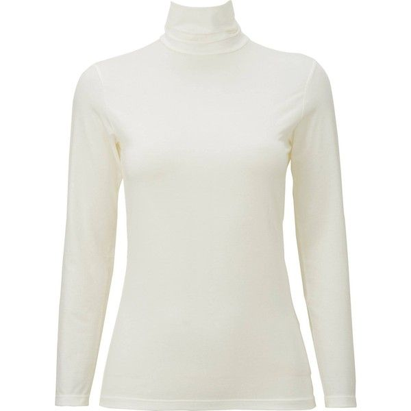 UNIQLO Women Heattech Turtleneck Long Sleeve T-Shirt ($15) ❤ liked on Polyvore featuring activewear, activewear tops, long sleeve turtleneck top, long sleeve turtleneck, uniqlo, turtleneck tops and white turtleneck