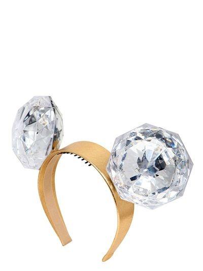 PIERS ATKINSON - MEGA DIAMONDS EARS HEADBAND - LUISAVIAROMA - LUXURY SHOPPING WORLDWIDE SHIPPING - FLORENCE