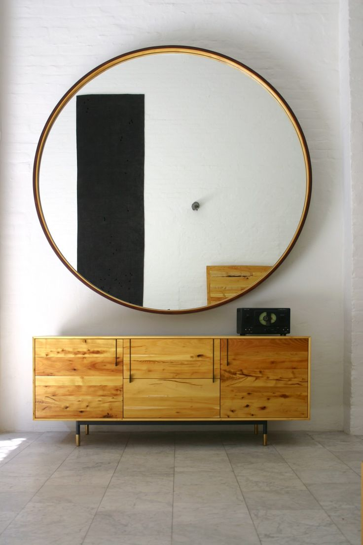 299 best mirror mirror on the wall images on pinterest i love how the large round mirror works almost like a frame to real the things in the background this set up is gorgeous and im crazy about the color amipublicfo Gallery