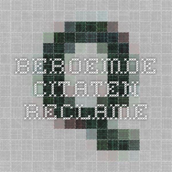 BEROEMDE CITATEN - Reclame