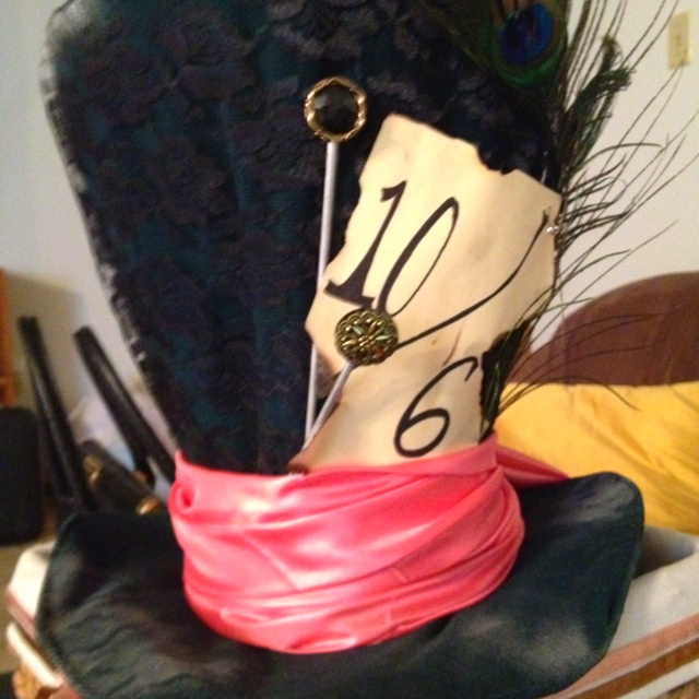 diy mad hatter hat k 39 s 10th birthday pinterest verr ckter hutmacher h te h te und hutmacher. Black Bedroom Furniture Sets. Home Design Ideas