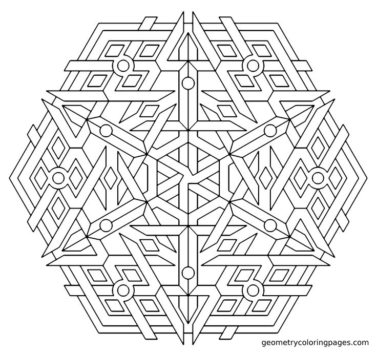 the redux of triplex mandala from geometry coloring pages