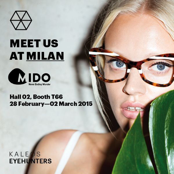 Meet us at Milan! KALEOS will be at Mido Eyewear - Milano Rho Fiera Eyewear Show from 28 February to 2 March. For more info drop us a line to hello@kaleos.es #Kaleos #eyehunters #sunglasses #shades #sunnies #glasses #gafas #gafasdesol #fashion #moda #complementos #accessories #mido #milan #show