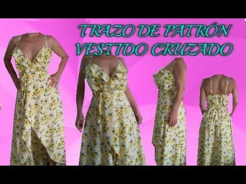 75f748ab69 TRAZO DE PATRÓN VESTIDO CRUZADO PARTE 2 ( FALDA )
