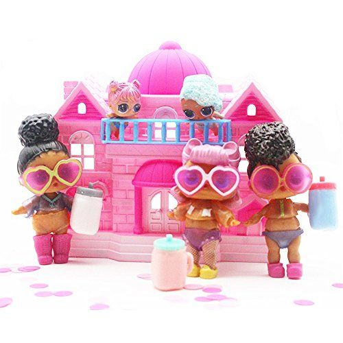 Umfun Big Size Pretend Play Princess Doll House 4 Adorable Lol