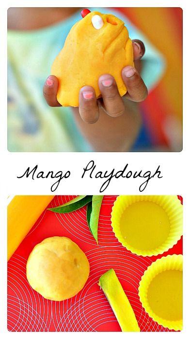 Summer Fun : Mango Playdough Recipe