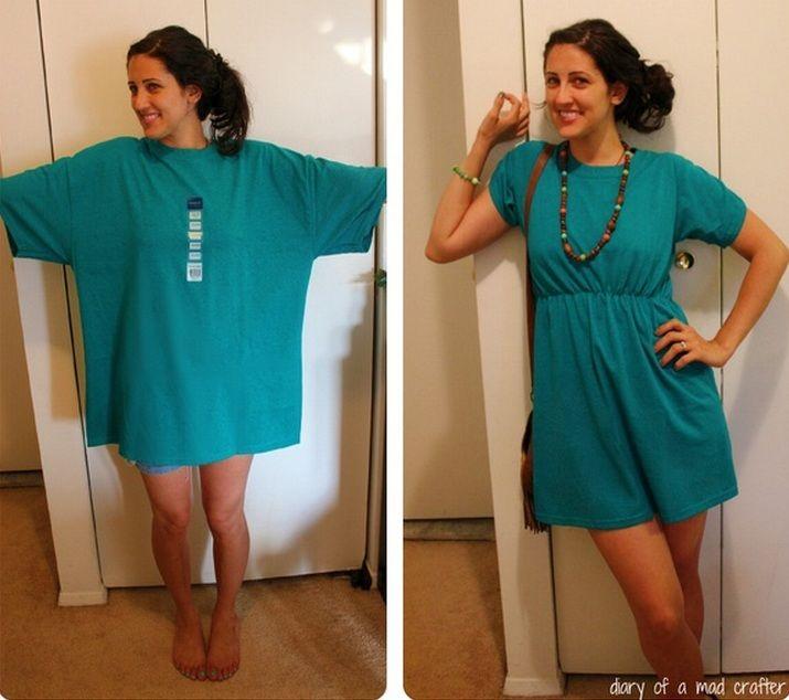 Otra idea para reciclar las camisas de ellos!!