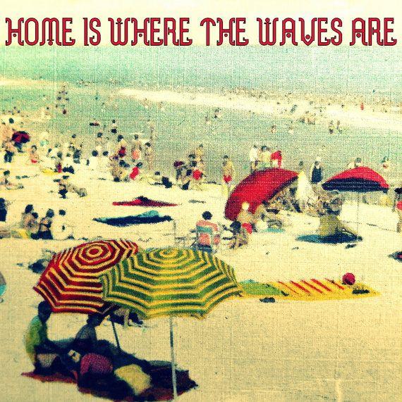 HOME <3 Vintage Beach Artwork :- #simplepleasures