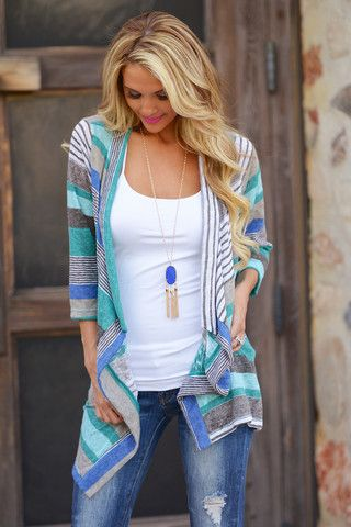 Love the splash of color in this cardigan