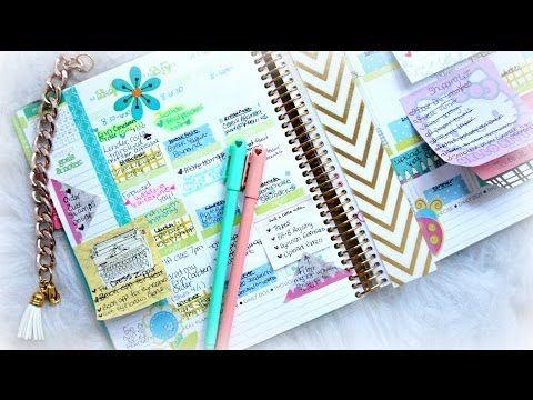 Ежедневник 2015! Планирование на месяц! Годовой календарь. - YouTube