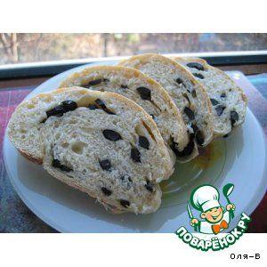 Оливковый хлеб-батон