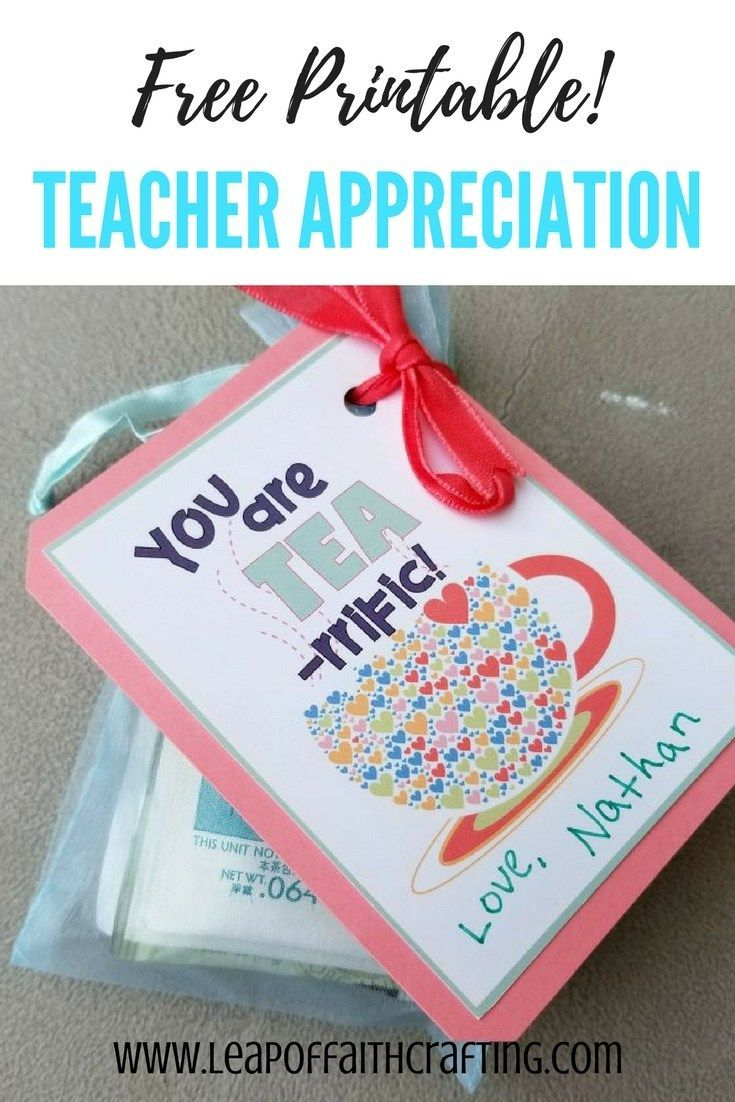 Gifts For Teachers With Free Printables