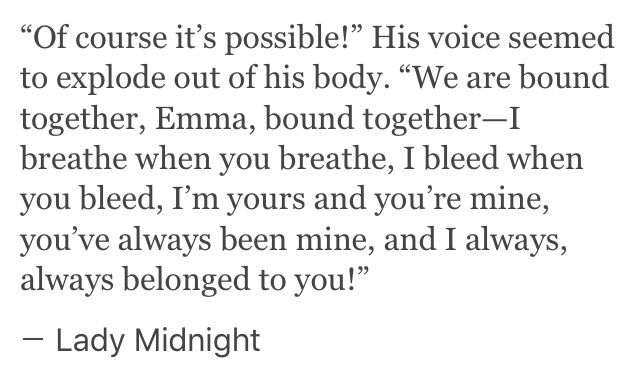 If you've read Lady Midnight you know what happens after this <3