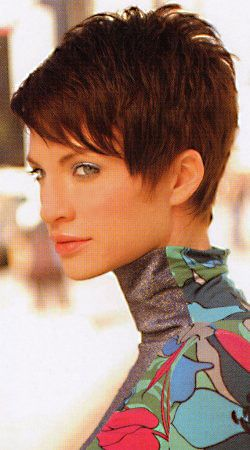 Trendy Short Hairstyles 21 easy hairdos for short hair pixie haircut faux hawk and short hair Find This Pin And More On Super Short Pixies Gulp By Martibartels17
