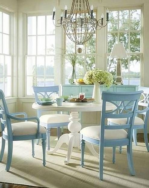 Interior design - cool beach themed home decor dining - click for tips and inspirations.